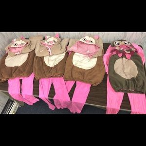 Set of 4 Owl Costumes girl pink pottery barn